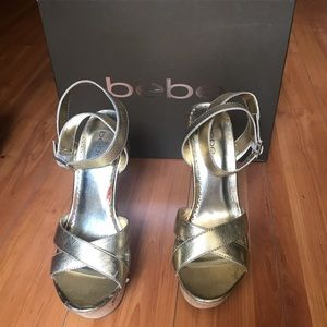 """BeBe Gold  4"""" strapy heels *NEW*"""